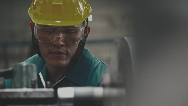 Industrial worker working Men Worker manufacturing occupation stock videos & royalty-free footage