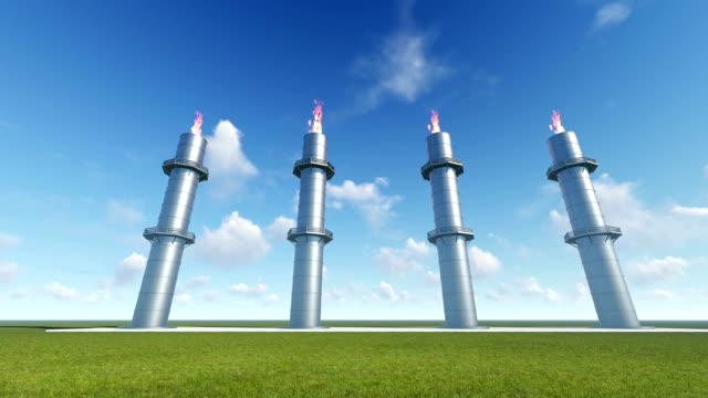 Industrial Zone, Steel Pipelines video