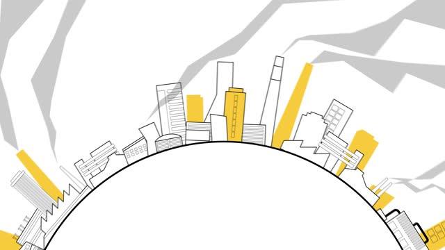 vídeos de stock e filmes b-roll de industrial zone - economia circular
