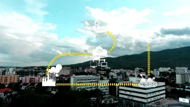 Industry 4.0 The future revolution cyber physical systems Sunset at Chiang Mai Bangkok Thailand