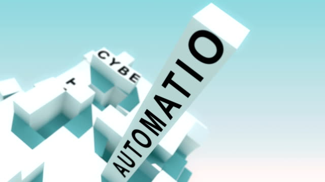 Industry 4.0 words animated with cubes Transformative 3d cubes with all kinds of different terms computer aided manufacturing stock videos & royalty-free footage