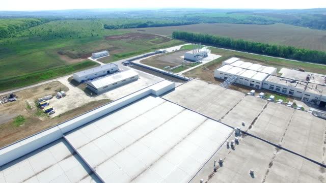 Industry Building Aerial video