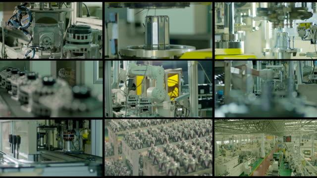industria edile, manifatturiero &, montaggio video aziendali - metal robot in logistic factory video stock e b–roll