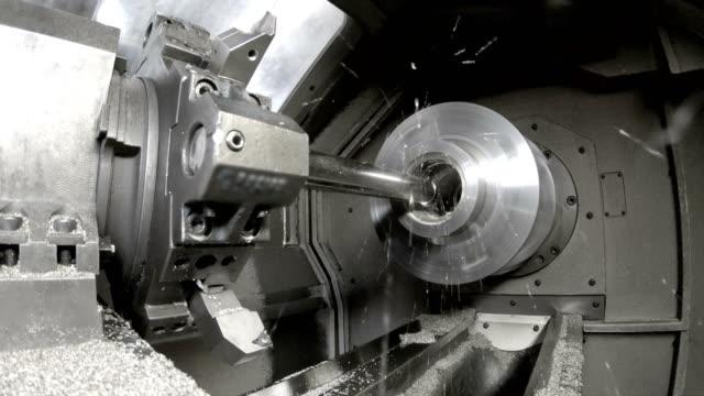 Industry lathe machine work video