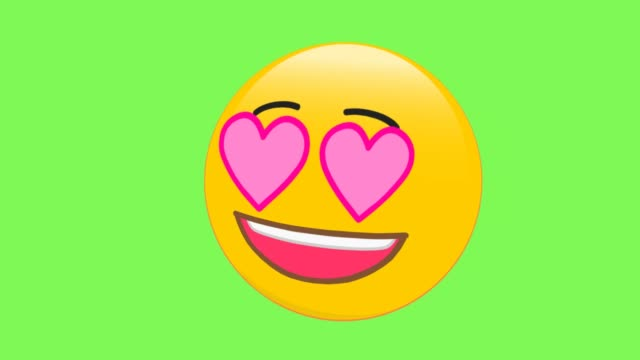 infatuation face emoji - lingua bocca video stock e b–roll