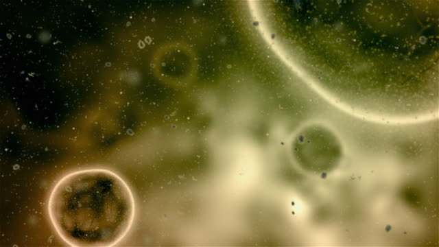 "Infected cells CG simulation of some ""infected cells"".20 sec animation microscope stock videos & royalty-free footage"