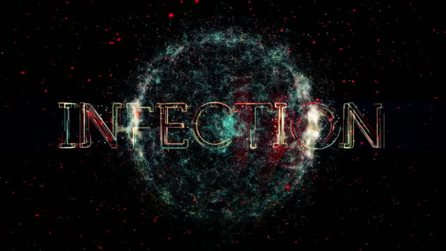"Infection title animation A representation of a Virus or bacteria with the word ""Infection"" parasitic stock videos & royalty-free footage"