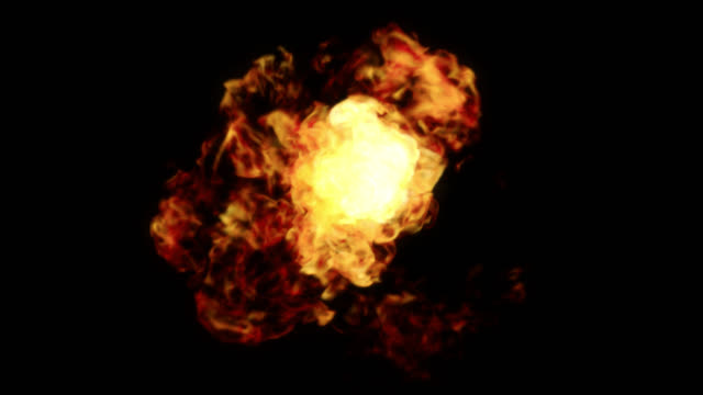 Inferno Fireball. Abstract Burning Sphere With Glowing Flames