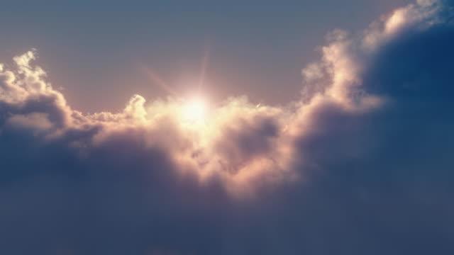 日落時在雲層之上無限飛行 - 無縫視頻 - 航拍 個影片檔及 b 捲影像