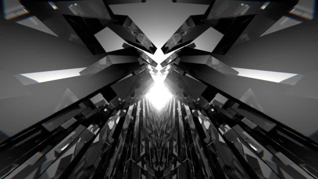 stockvideo's en b-roll-footage met oneindige geometrische vj ruimte - oneindigheid