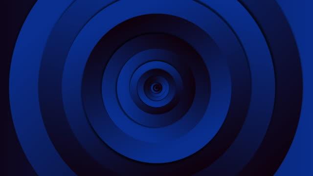 infinite loop circle blue tunnel