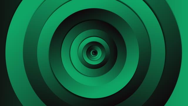 infinite loop circle green tunnel