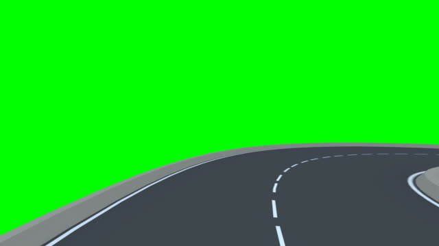 Infinity road (Isolated on a green background) video