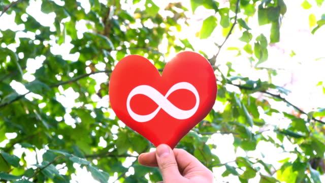 Infinity Symbol on Heart Shape