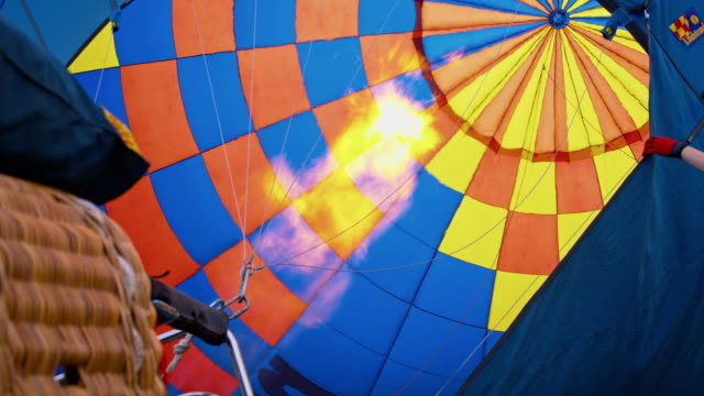 MS Inflating a hot air balloon video