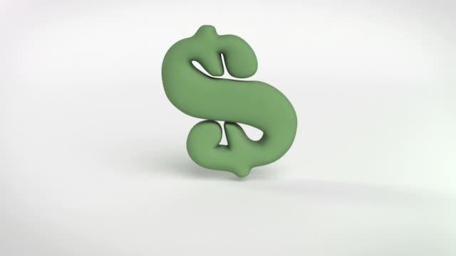 aufblasen dann abheben von grüne dollar-symbol alpha - inflation stock-videos und b-roll-filmmaterial
