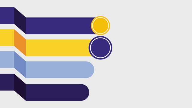 stockvideo's en b-roll-footage met infographic 4 stappen delen stadia processen sjabloon - vier personen