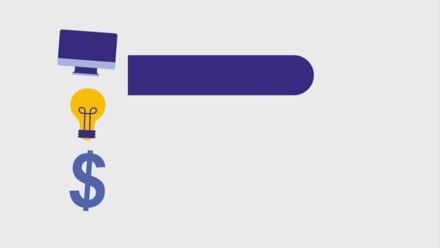 infographic online alışveriş - timeline stok videoları ve detay görüntü çekimi