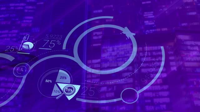 stockvideo's en b-roll-footage met infographics van groei op een blauwe achtergrond - lood