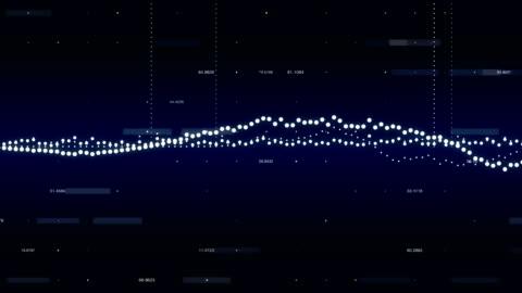 vidéos et rushes de informations écran graphique - résolution 4k - nombre