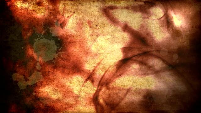 Ink Blood Grunge Background. HD video