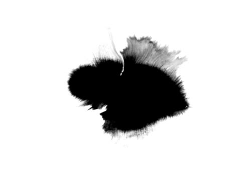 Ink blot series 2, spreading each one in full screen video