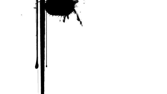 ink blots - ink splatter stock videos and b-roll footage