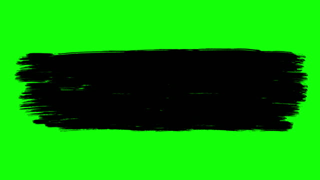 Ink brush paint stroke green screen stock animation