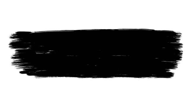 インク ブラシ ペイント ストローク ストック アニメーション - 黒色点の映像素材/bロール