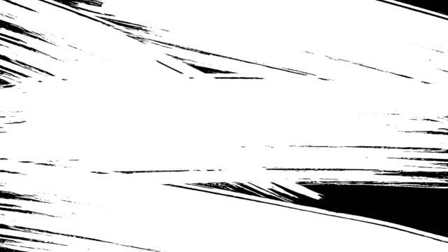 Ink brush paint stroke transition stock animation