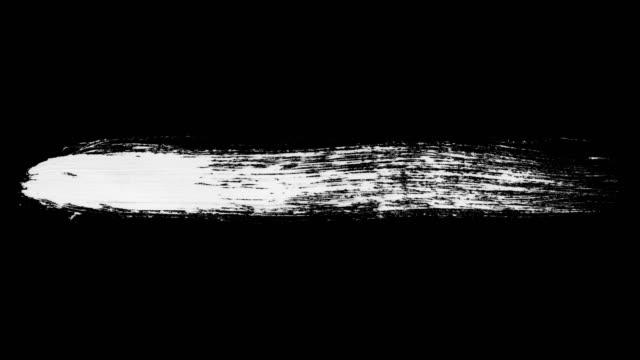 vidéos et rushes de encre brush stroke set whit alpha channel (luma matte). - pinceau