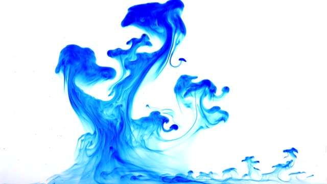 Ink dissolving in water video