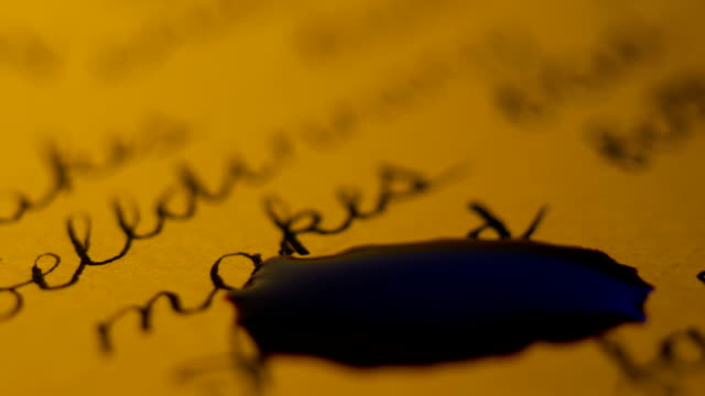Ink Dripping To Manuscript video