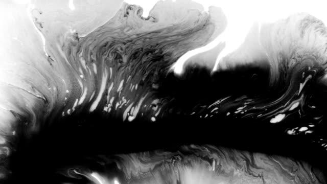 bläck droppar och stänker sammanställning - akrylmålning bildbanksvideor och videomaterial från bakom kulisserna