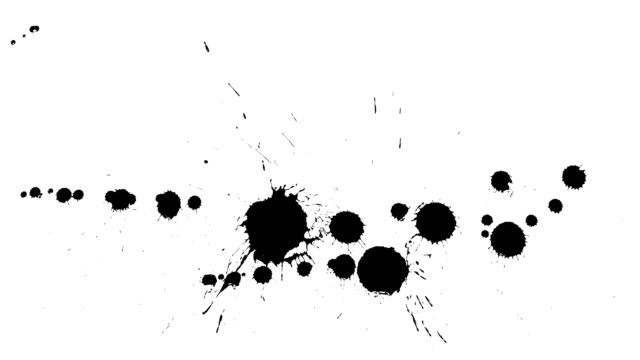 Ink drops on dry paper Black inks drop on dry paper. Clean footage. There are no inks on the edge of the paper - all inks are in the  center of the footage. It is easy to use in the video projects. brush stroke stock videos & royalty-free footage