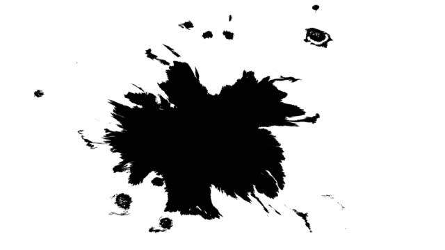 Ink drops on wet paper video