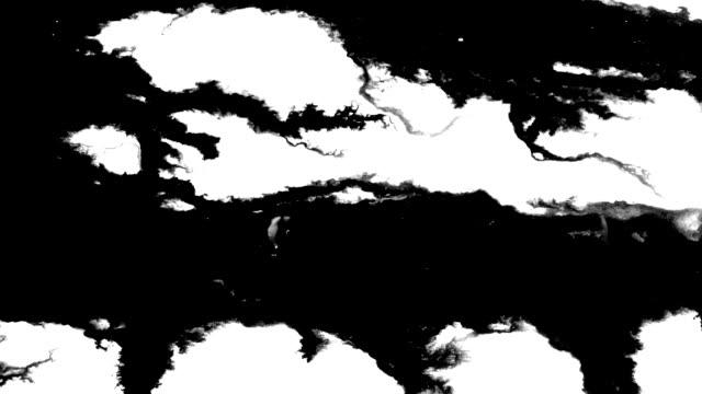 vídeos de stock, filmes e b-roll de fluxos de tinta sobre a superfície como rio - textura papel