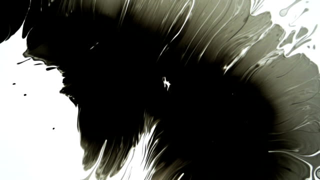 Ink Reveal Bleeds In Slow Motion video