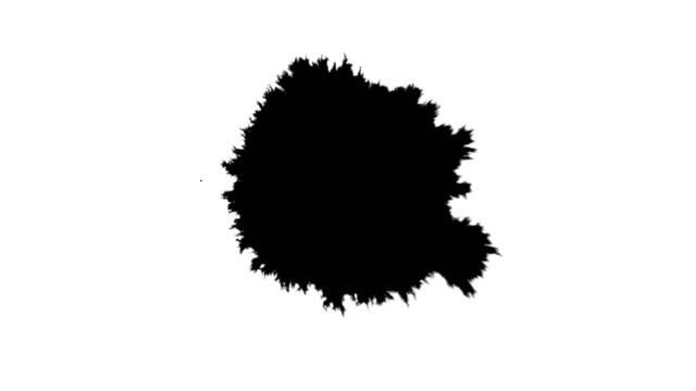 stockvideo's en b-roll-footage met eenvoudige daling van inkt - bespatterd