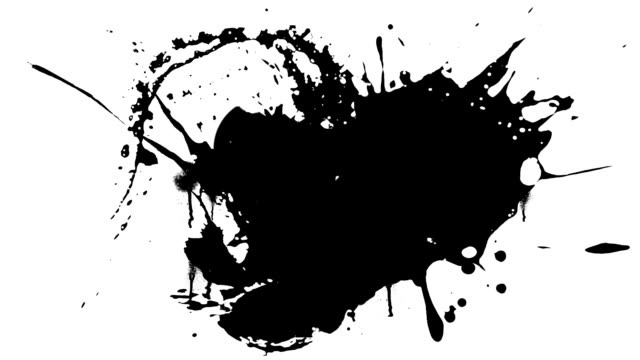 ink splashes - ink splatter stock videos and b-roll footage