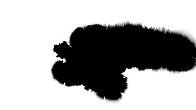 splat serie di inchiostro nero su bianco - dipinto ad acquerelli video stock e b–roll