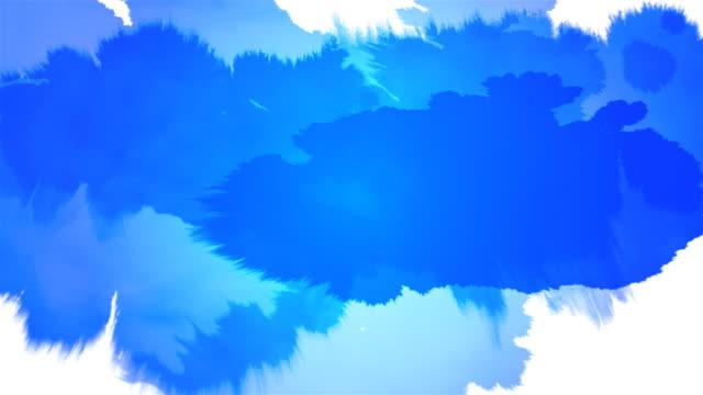 splat serie di inchiostro blu su bianco & nero - dipinto ad acquerelli video stock e b–roll