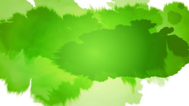 Ink Splat Serie - green on white & black video