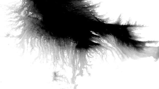 bläck splatter i stänk, droppar och fläckar. - akrylmålning bildbanksvideor och videomaterial från bakom kulisserna