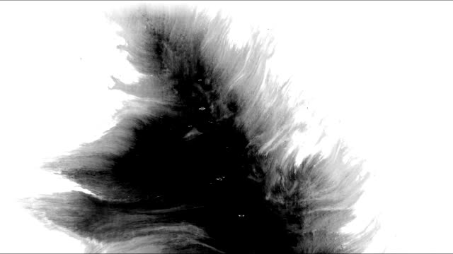 ink splatter in splashes, drops and stains. - dipinto ad acquerelli video stock e b–roll