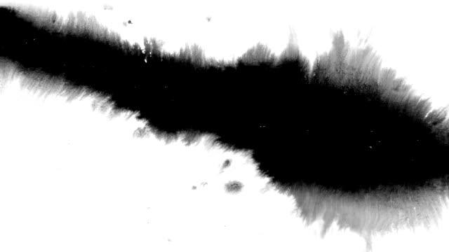 インクが飛沫、滴、汚れに飛び散る。 - インク点の映像素材/bロール