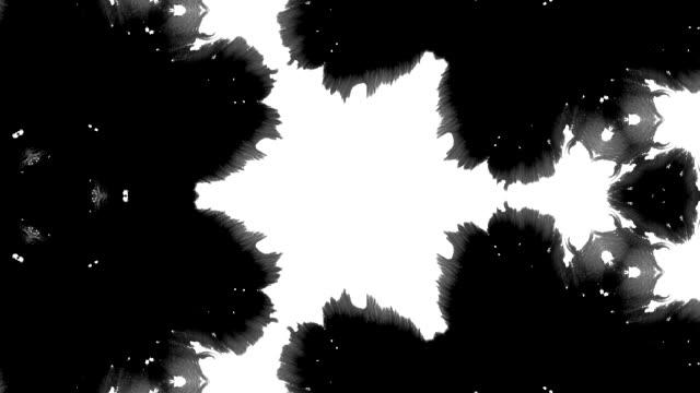 Ink splatter Rorschach test spread in fractals