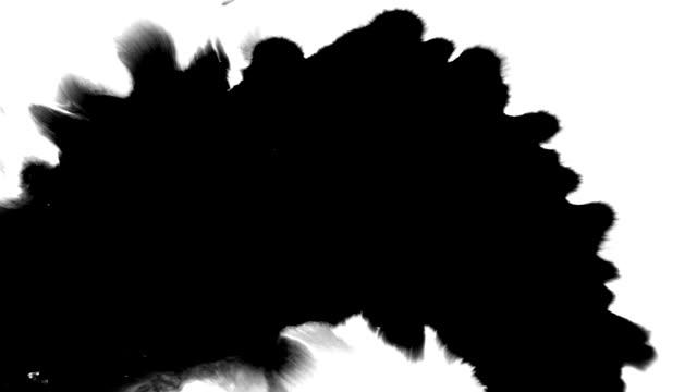 Ink splatter streams flow over screen