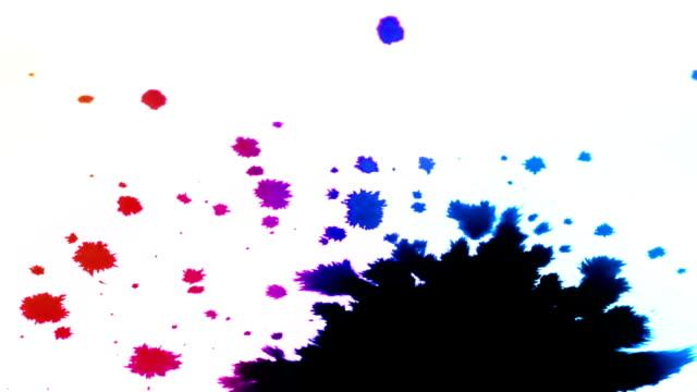 Ink splatters video