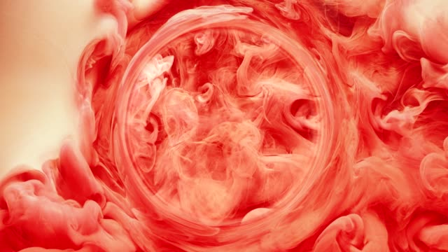 ink water swirl oracle crystal ball red paint